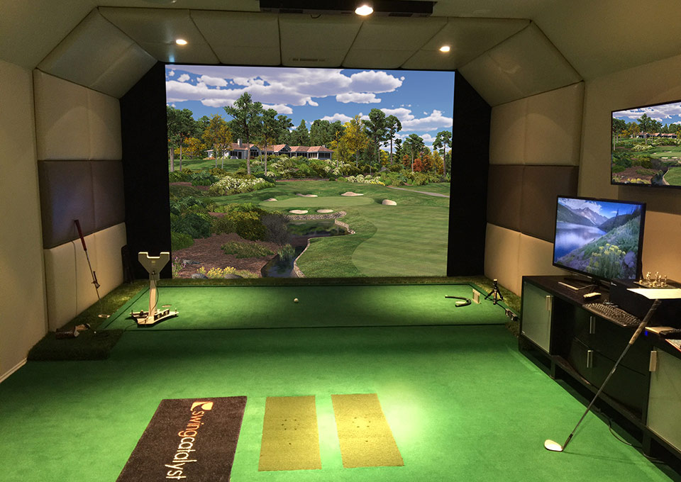 Simulator Lighting and Golf Green