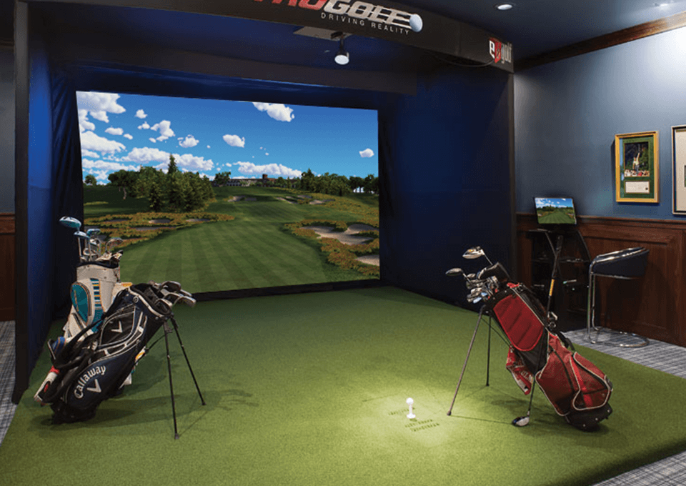 Free-Standing Golf Simulator Front View