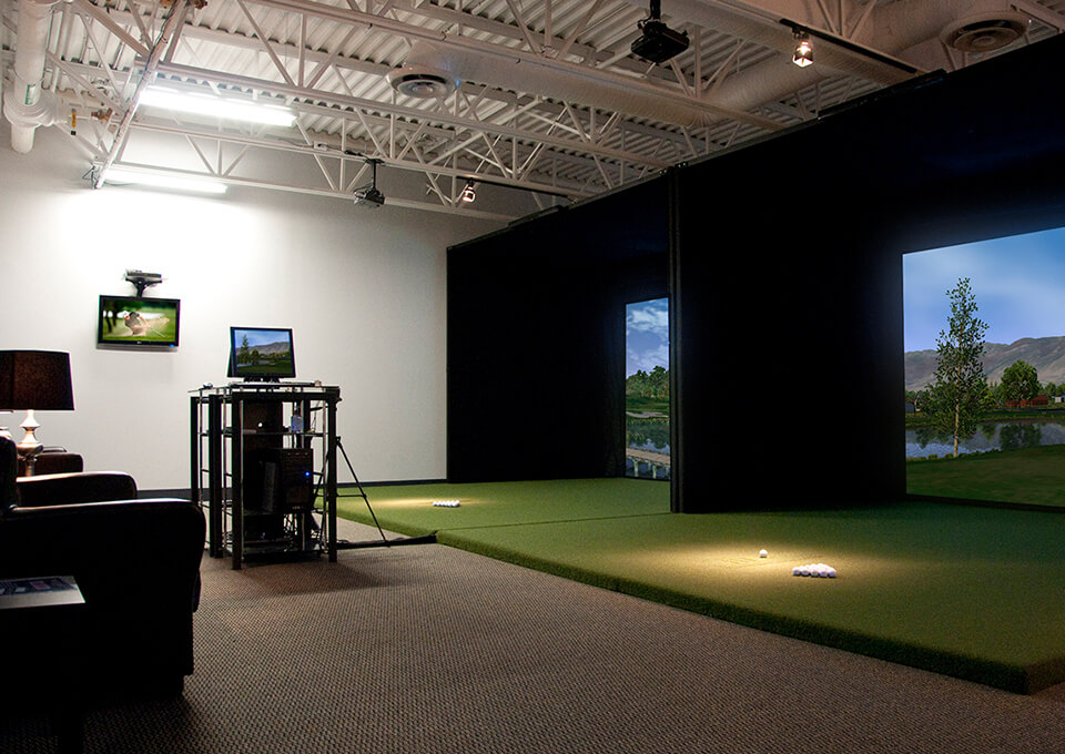 Golf Simulator Large Commercial Space