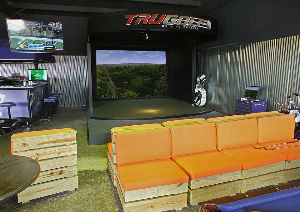 Golf Simulator for Compact Space