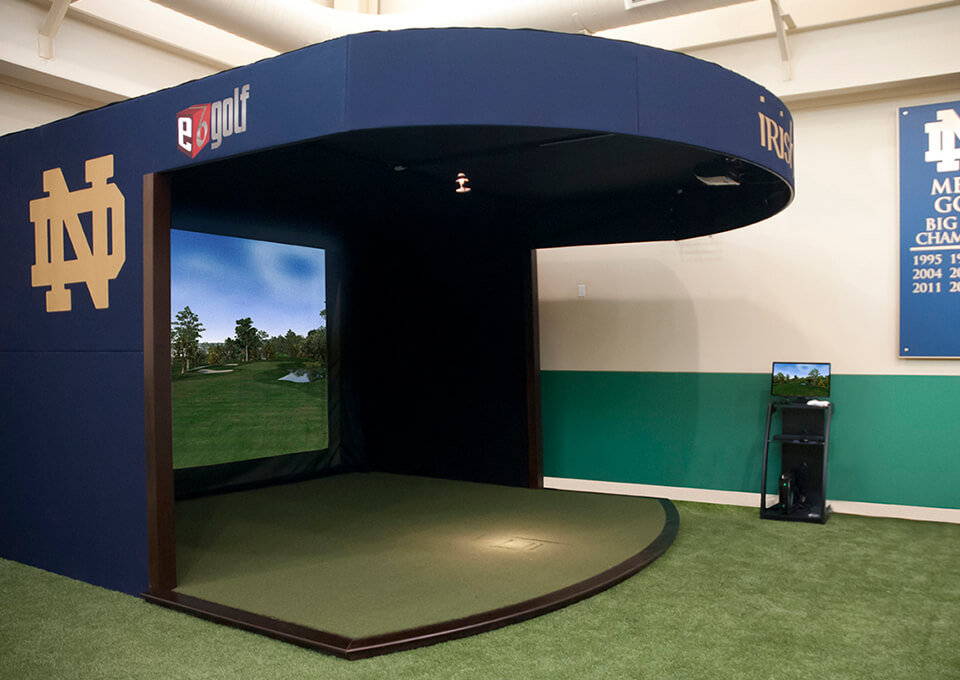 Golf Simulator Side View