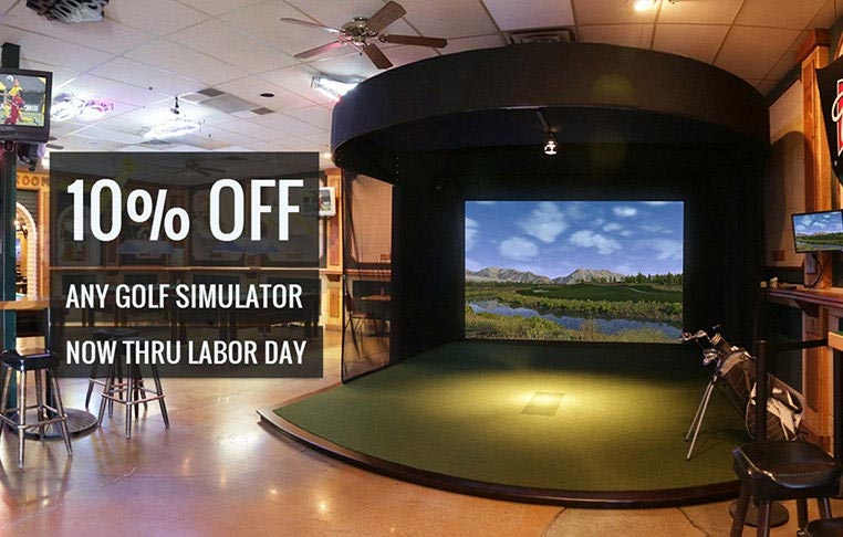 Discount indoor golf simulator