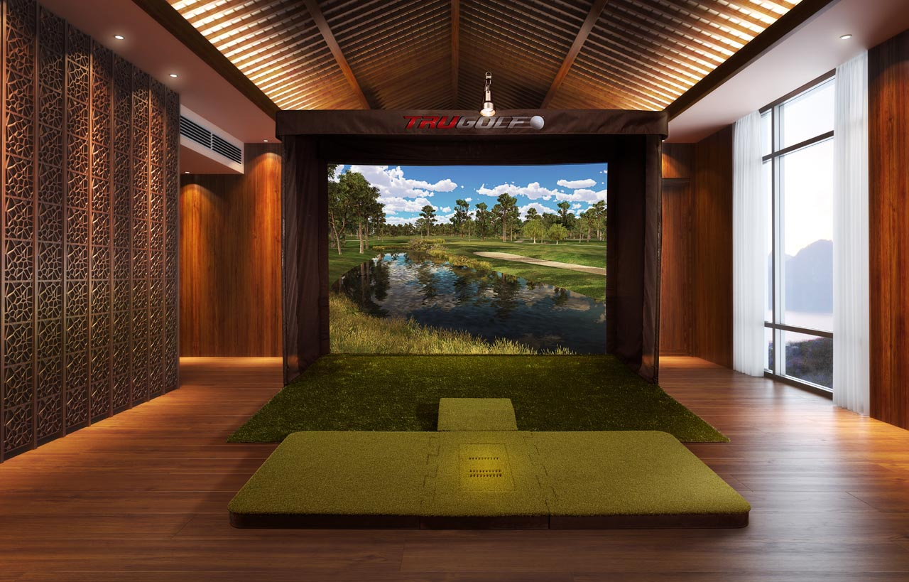 Interior Design Simulator vista series golf simulator - trugolf